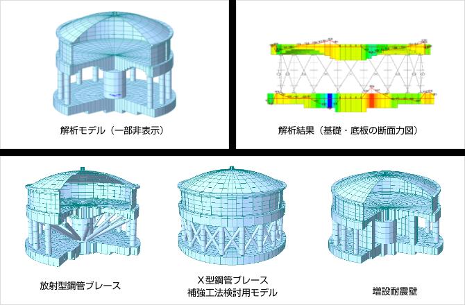 3次元動的解析によるPC高架タンクの耐震補強検討
