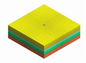 図-5 3次元モデルメッシュ図