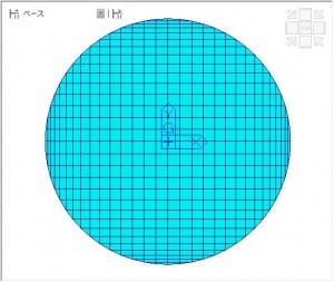 図3 円形メッシュ分割